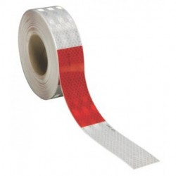 "3M - 963-32-RED/WHITE-2""X50YD - 3M 963-32-Red/White-2x50yd Flexible Prismatic Conspicuity Tape"