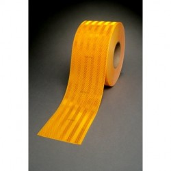 "3M - 973-71NL-YELLOW-2""X50YD - 3M 973-71NL-Yellow-2x50yd Conspicuity Tape 2 x 50 yd (2 x 12 cuts)"