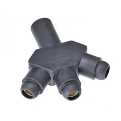 Marinco Power Products - CA318F-A - Marinco CA318F-A CLS 18 Series Ballnose Hard 3Fer (M-F-F-F)-Black (A)