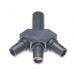 Marinco Power Products - CA3F-A - Marinco CA3F-A CL/CLS/CLM Hard 3Fer Adapter (M-F-F-F) - Black (A)