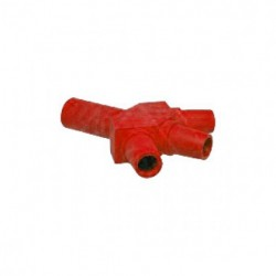 Marinco Power Products - CA3F-C - Marinco CA3F-C CL/CLS/CLM Hard 3Fer Adapter (M-F-F-F) - Red (C )