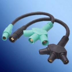 Marinco Power Products - CA3FST-D - Marinco CA3FST-D CLS Assembled Adapters Soft 3Fer (M-F-F-F) - Blue (D)
