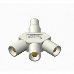 Marinco Power Products - CA3M-B - Marinco CA3M-B CL/CLS/CLM Reverse Hard 3Fer Adapter (F-M-M-M)-White