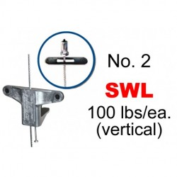 Gripple - DT2-TG-5FT - Gripple UL Approved No. 2 x 5' Toggle (5-16) Trapeze Hanger (Pack of 10), U.S.A Made