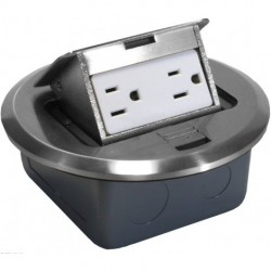 Orbit - FLBPU-D-SS - Orbit Industries FLBPU-D-SS Floor Box Pop-Up with Duplex Receptacle