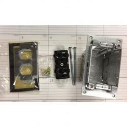 Orbit - Flb-r1g-br - Orbit Industries Flb-r1g-br Floor Box Round Plug Type With Duplex