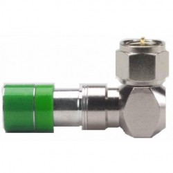 Belden / CDT - FS6URA - PPC Belden FS6URA F RG6 Right Angle Compression Connector - Silver-Gree