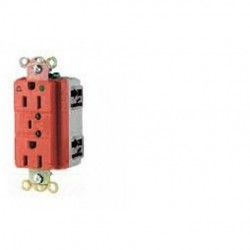 Cooper Wiring Devices - IG8200HGBLSM - Cooper Wiring Devices IG8200HGBLSM RecpHG IG TVSS15A125V2P3WLedAlarm