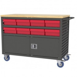 Akro-Mils / Myers Industries - MA4824CLD - Akro-Mils MA4824CLD Large Lockable Louvered Cart - Charcoal