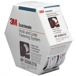 3M - MP-3526/27 BLACK - Hook & Loop Fastener, Scotchmate Reclosable, Black, 25.4 mm, 4.48 m