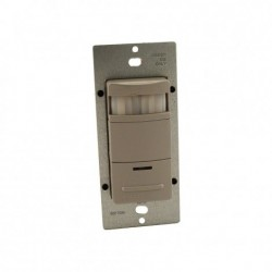 Leviton - ODS15-IDG - Leviton ODS15-IDG PIR Occupancy Sensor, Wall Switch, 180, Single-Pole, Gray