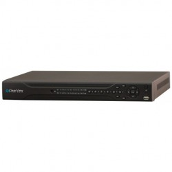 Clearview - PANTHER-04 - 4CH 720P (1.3 MP) recording @30fps 2 HD Bays & Alarm Ports & PTZ Capable -LIVE 1080P Viewing - 500GB Included