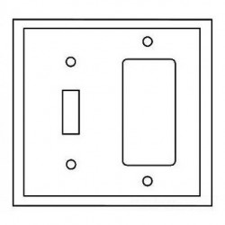 Cooper Wiring Devices - PJ126B - Cooper Wiring Devices PJ126B Wallplate 2G Toggle/Deco Poly Mid BR
