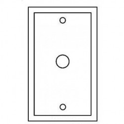 Cooper Wiring Devices - PJ12W - Cooper Wiring Devices PJ12W Wlplt 1GTel/Coax.406Hole Poly MidStp WH