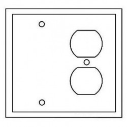 Cooper Wiring Devices - PJ138A - Cooper Wiring Devices PJ138A Wallplate 2G Duplex/Blank Poly Mid AL