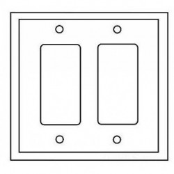Cooper Wiring Devices - PJ262B - Cooper Wiring Devices PJ262B Wallplate 2G Decorator Poly Mid BR