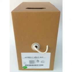 AVB Cable - PW18SM-GRAY - AVB 18-2 7 Stranded Shielded Gray 1000 Feet Pull Box