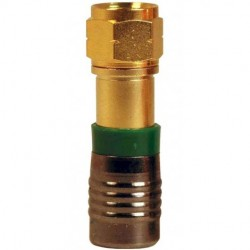 Belden / CDT - RG6U - PPC Belden RG6U universal F connector for RG6 coaxial cable - gold (gree