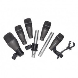 Samson Technologies - SADK707 - Samson SADK707 Drum Mic 7-Kit:(1)Q71 kick mic (4)Q72 Snare/Tom mics(2)