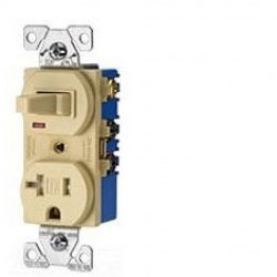 Cooper Wiring Devices - TR291A - Cooper Wiring Tr291a - Switch/tr Duplex Combination Specification