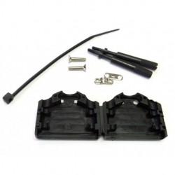 Calrad - TS9 - Calrad TS9 DB9 Hood with Thumb Screw Black