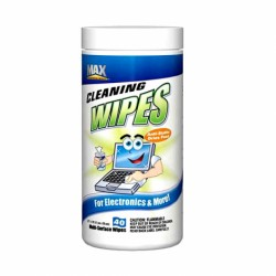 Max Pro - WPE-002-091 - Max Professional WPE-002-091 Blow Off Electronic Cleaning Wipes -40-Ha