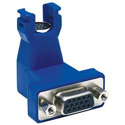 Hubbell - 15N6P1 - Hubbell HD15(f)-8pin mini din(f) 90 deg