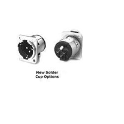 Switchcraft - E3MSCQG - 3 Pin XLR Male Insert for E Series