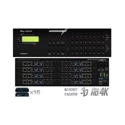 Key Digital Systems - KD-HD16X16PROK - Key Digital Champion KD-HD16x16ProK Audio/Video Switchbox - 16 Inputs to 16 Outputs HDBaseT/HDMI Matrix Switcher Includes 16 RX Extenders, Supports Ultra HD/4K