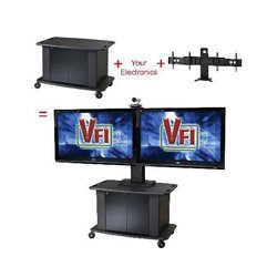 AVFI - PACKAGE-B - VFI C2736 Cart with PM-D Mount - 40 to 70 Screen Support - 160 lb Load Capacity - 72.5 Height x 60 Width x 29 Depth - Laminate, Black, Powder Coated - Steel - Black