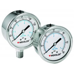 Weksler - BY45YPF4LW - 4in 0/100 Psi Lqd Fill Ss 1/4in Lc