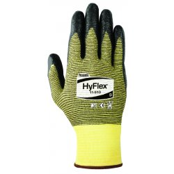 Ansell-Edmont - 11-510-11 - Hyflex 11510 Blk Nit Fmct On Kevlar Lnr 11