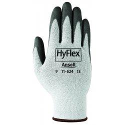 Ansell-Edmont - 11-624-7 - Hyflex 11-624 Dyneema/lycra Wht W/blk Pu Ct Sz 7