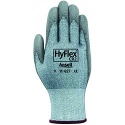 Ansell-Edmont - 11-627-8 - HyFlex Health HyFlex 11-627 Safety Gloves - 8 Size Number - Yarn, Polyurethane Palm, Lycra Liner - Cut Resistant, Abrasion Resistant, Light Duty, Flexible - For Multipurpose - 1 Pair