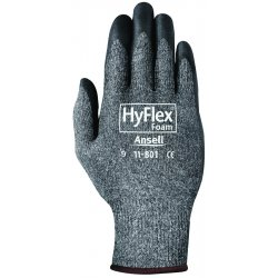 Ansell-Edmont - 11-801-8 - HyFlex Assembly Gloves with Nitrile Grip, Gray/Black, Medium, 12 Pair/Pkg