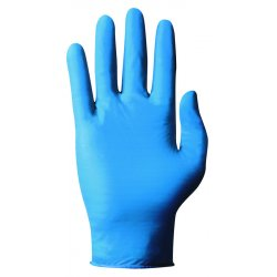 Ansell-Edmont - 92-575-XL - Ansell Health Nitrile Powdered Work Gloves - X-Large Size - Nitrile - Blue - Chemical Resistant, Comfortable, Textured Fingertip, Disposable, Durable, Splash Resistant, Rolled Cuff, Beaded Cuff, Textured Finish, Ambidextrous,
