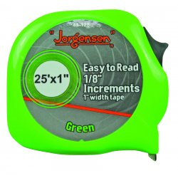 Jorgensen - 43-128 - Easy to Read Tape Measures (Each)