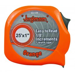 Jorgensen - 43-129 - Easy to Read Tape Measures (Each)