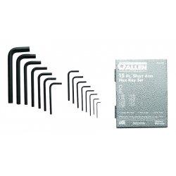 Allen Tool - 56028 - Short Arm Hex Key Set, .028 - 3/8', 15 pc.