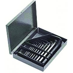 Allen Tool - 56038 - Short Arm Hex Key Set, 07 - 10mm, 12 pc.