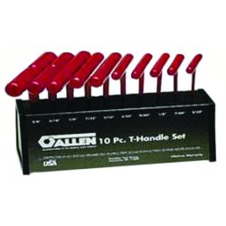 Allen Tool - 56163 - 789 10pc T-handle Hex Set W/metal Sta