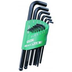 Allen Tool - 56194 - 9-pc. Ball Plus Metrichex Key Set