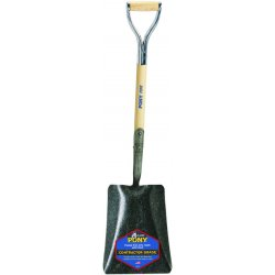 Jackson Professional Tools - 1200900 - Square Point Shovel, 27 In. Handle, 14 ga.