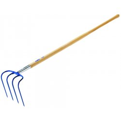 "Jackson Professional Tools - 1806100 - 4-tine Manure Hook W/60""handle"