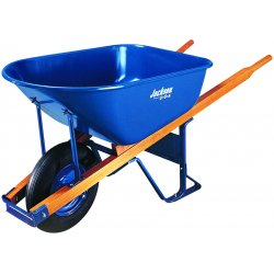 Jackson Professional Tools - M6FFBB - 6 Cubic Foot Steel Contractor Wheelbarrow with Flat Free Tire