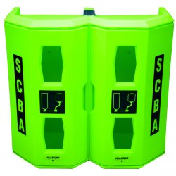 Allegro - 4350 - Hi-Viz Green Dual SCBA Wall Case