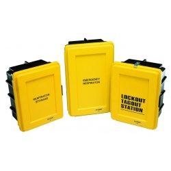 Allegro - 4500 - Respirator Allegro Emergency Wall Case Plastic 18 In Hx14 In Wx9 1/2 In D Yellow, Ea