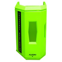 Allegro - 4550 - Allegro 14' X 10' X 21' Polyethylene Hi-Viz Green Heavy Duty Single Wall Case With Universal Cylinder Bracket (For Use With Single Self Contained Breathing Apparatus)