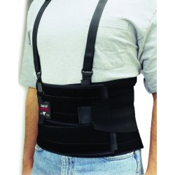 """Allegro - 7115-03 - Black Nylon Back Support, Back Support Size: L, 9"""" Width, Fits Waist Size 48"""" to 58"""""""