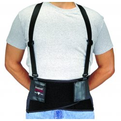 Allegro - 7160-02 - Medium Black Bodybelt Back Support W/non-remov